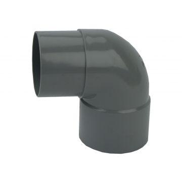 Wavin HWA fitt -buis bocht, PVC, grijs, 80mm,