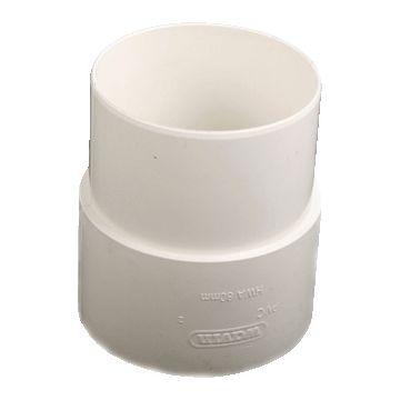 Wavin HWA fitt -buis, PVC, wit, 100mm, uitvoering trompstuk/verbindingsstuk,