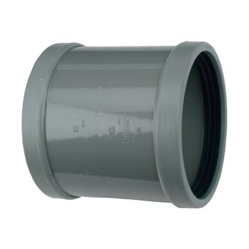 Wavin schuiffitting met 2 aansluiting Wafix SN8, PVC, grijs, overschuifmof