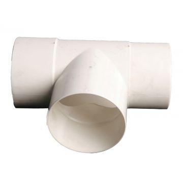 Wavin HWA fitt -buis T-stuk, PVC, wit, 100mm,