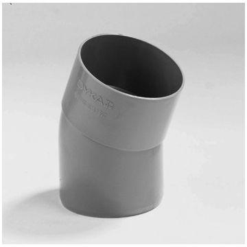 Wavin fitt HWA-buis bocht HWA, PVC, grijs, 80mm, HWA