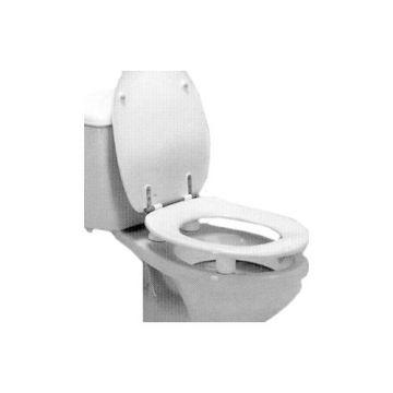Pressalit Care toiletverhoger Dania, kunststof, wit, ho 5cm, accentkleur wit