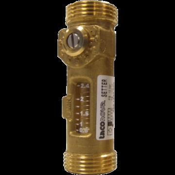 TACO inregelafsluiter, uitwendige buisdiameter 19mm, messing ontzinkingsarm