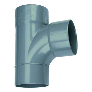 Wavin Wadal lijmfitting met 3 aansluiting, PVC, grijs, 41, str T-stuk 90°