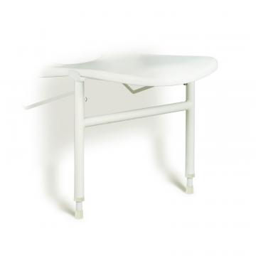 Linido hulppootset voor ergonomische douchezitting met zithoogte 42-57cm, staal gecoat wit
