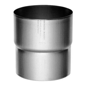 Rheinzink fitt hwa-buis Walsblank, zink, 80mm, uitvoering trompstuk/verbindingsstuk, hwa