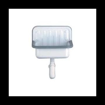 Alape uitstortgootsteen AG Stahlform412, plaatstaal, wit, (bxd) 412x273mm
