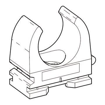 Don Quichotte drukzadel OPDZ, kunststof, grijs, diam 18-19mm, 1 kabels/buizen