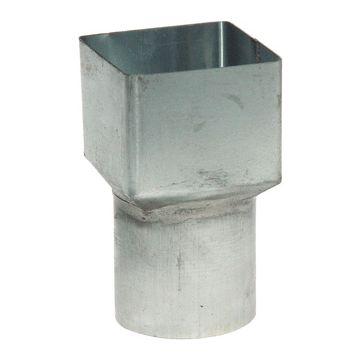 Rheinzink fitt hwa-buis Walsblank, zink, 80x80/80mm, uitvoering verloopstuk, hwa