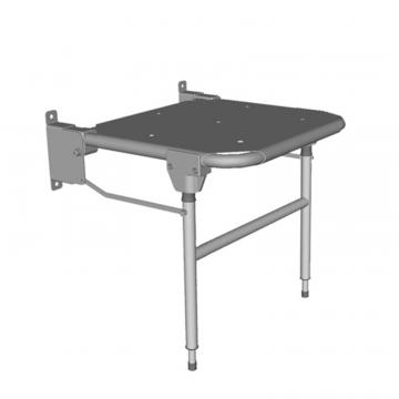 Linido hulppootset voor verkorte douchezitting met zithoogte 44-59cm, staal gecoat wit