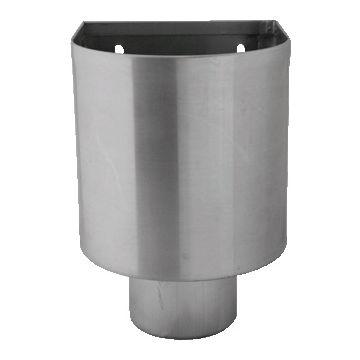 Rheinzink hwa vergaarbak, zink, uitwendige buisdiameter 80mm, (bxdxh) 140x150x195mm