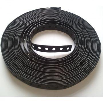 A.S.F. Fischer Fischer montageband met perforatie, staal, zwart, breedte 19mm kwaliteitsklasse