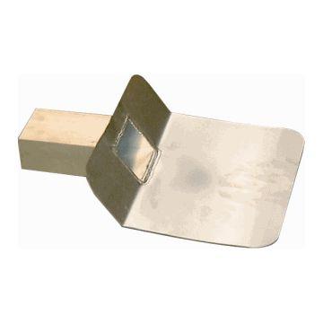 Iko kiezelbak, aluminium, 60x80mm, plaats zij gesl, hoek dakopstand 45°