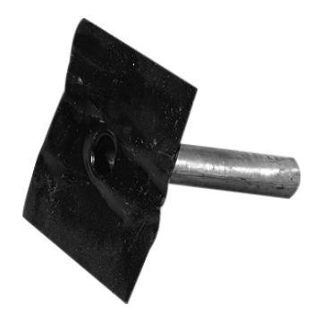 Iko kiezelbak, lood, diam. 80mm, plaats centr onder, le uitl 30cm