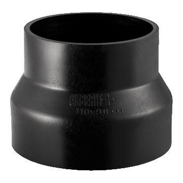 Geberit PE verloopstuk centrisch ø 125/110 mm