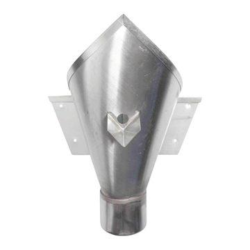 Rheinzink hwa vergaarbak Walsblank, zink, uitwendige buisdiameter 80mm