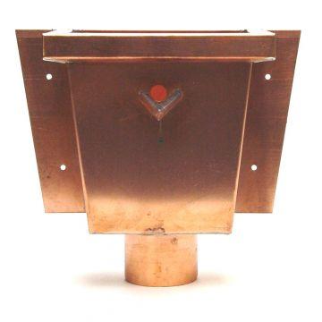 Wentzel hwa vergaarbak, koper, uitwendige buisdiameter 80mm, (bxdxh) 300x170x200mm