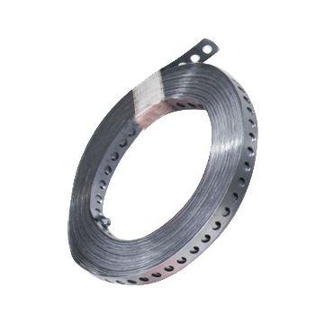 Don Quichotte montageband met perforatie, staal, br 25mm, bandverzinkt