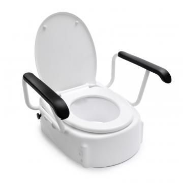 Linido toiletverhoger met armleuningen en deksel, wit
