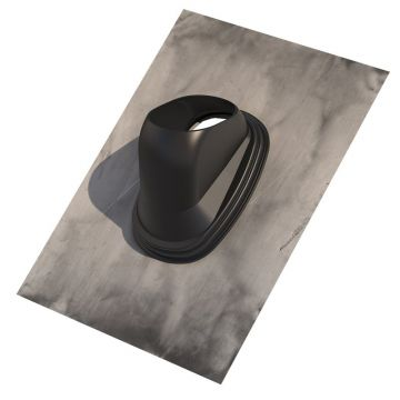 Ubbink doorv pl, plaat lood, voor pannendak, dakhelling 25-45°