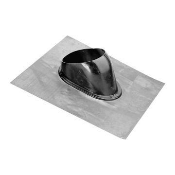 Burgerhout doorv pl Model F, zwart, plaat lood, systeemdiameter 140mm