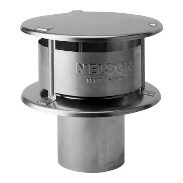 Burgerhout rookgasafvoerkap enkelw NEN 7203, ho 294mm, kap aluminium