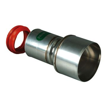 Panflex enkelwandig rookgashulpstuk 2 aansluiting INOX, RVS (RVS), wand 0.4mm