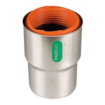 PANF enkelwandig rookgashulpstuk 2 aansluiting INOX, RVS (RVS), wand 0.4mm