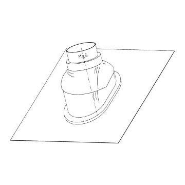 Burgerhout doorv pl Nefit, zwart, plaat lood, systeemdiameter 160mm