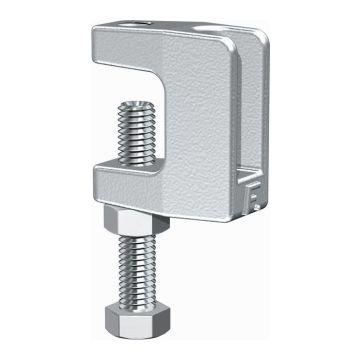 Flamco balkklem c-model doorl KCL, staal, voor flensdikte 0-18mm