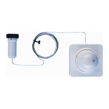 Herz Design radiatorthermostaatknop M28x1.5 voeler en bediening op afstand 2m recht, wit