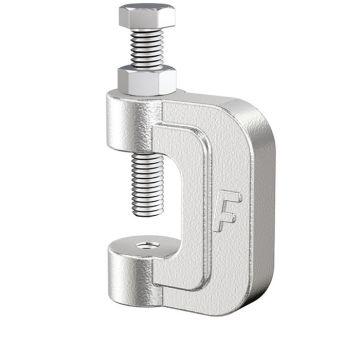 Flamco balkklem c-model doorl KCH, staal, voor flensdikte 0-30mm