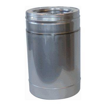 Metaloterm paspijp dubbelw ATPP, binnenbuis RVS, buitenbuis RVS