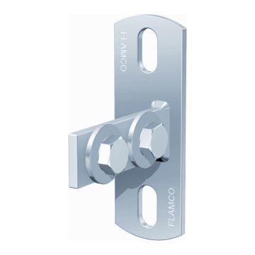 Flamco kopplaat montagerail/-profiel KF, staal, met bouten/schuifmoeren
