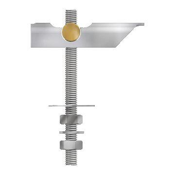 Flamco tuimelbout, staal, le 100mm, elektrolytisch verzinkt, draaddiameter (M.) 8, vdS