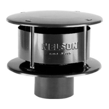 Burgerhout rookgasafvoerkap enkelw NEN 7203, zwart,, ho 294mm, kap aluminium