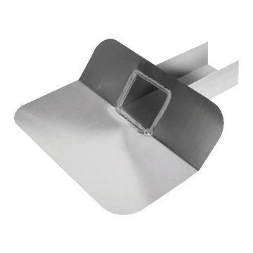 Anjo dakafvoertrechter, aluminium, plaats afvoer in plakplaat zij-. open