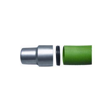 Panflex enkelwandig rookgashulpstuk 2 aansluiting ROAX, RVS (RVS), wand 0.4mm