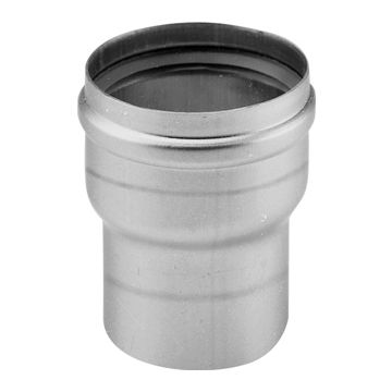 Metaloterm enkelwandig rookgashulpstuk 2 aansluiting MEVG, RVS (RVS), wand 0.6mm