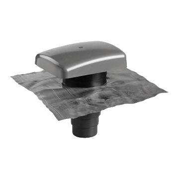 Ubbink dakdoorvoer rond luchtkanaal Rioolontspanning, kunststof, zwart