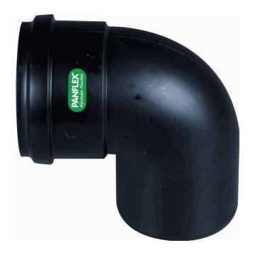 PANF luchttoevoerbocht 90 INOX/ROAX, kunststof, zwart, diam 80mm