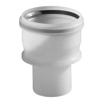 Ubbink enkelwandig rookgashulpstuk 2 aansluiting Rolux Flex, kunststof, transparant