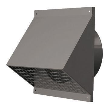 Ubbink wtw ventilatiekap cpl HR-WTW, staal, le 200mm, poedercoating