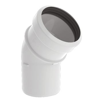 Burgerhout safe-pp rookgasafvoerbocht 80mm 45° wit