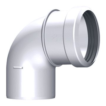 Burgerhout safe-pp rookgasafvoerbocht 80mm 87° wit