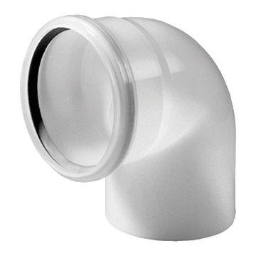 Ubbink enkelwandig rookgashulpstuk 2 aansluiting Rolux T120 PP, kunststof, transparant