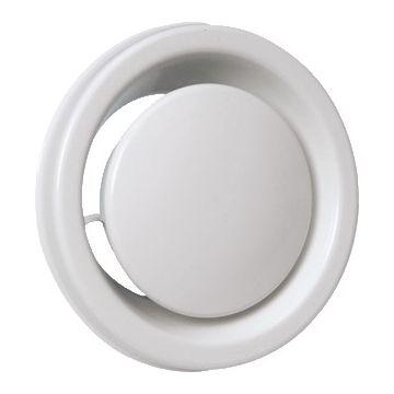 Itho Daalderop ventilatieventiel MLV, staal, wit, rond, nom. diam aansluiting 125mm
