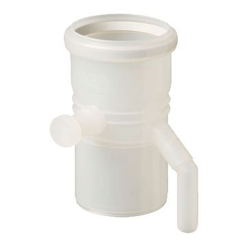 Ubbink enkelwandig rookgashulpstuk 2 aansluiting Rolux PP wit, kunststof, transparant