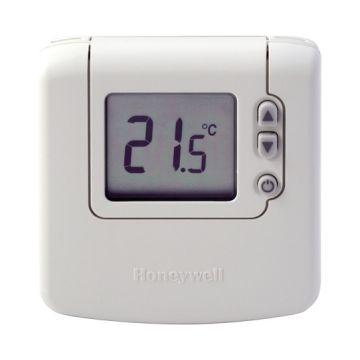 Honeywell Round Wireless kamerthermostaat Opentherm met batterij en draaiknop, wit