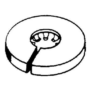 Attema buisrozet SRK, wit, uitwendige buisdiameter 28-31mm, rozet PP, rond